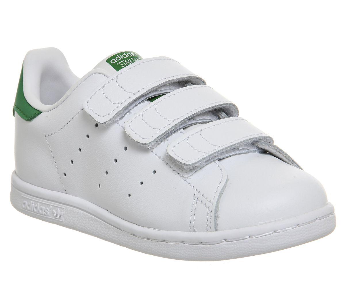 fe5da877bf525 Detalles de Niños Adidas Stan Smith CF TD 3-9 Blanco Verde Niños- ver  título original