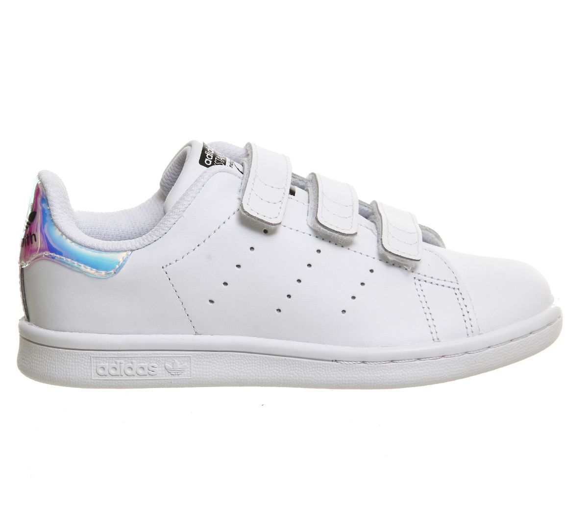 Details about Kids Adidas Stan Smith Cf Ps 10 2 Metallic Silver Kids