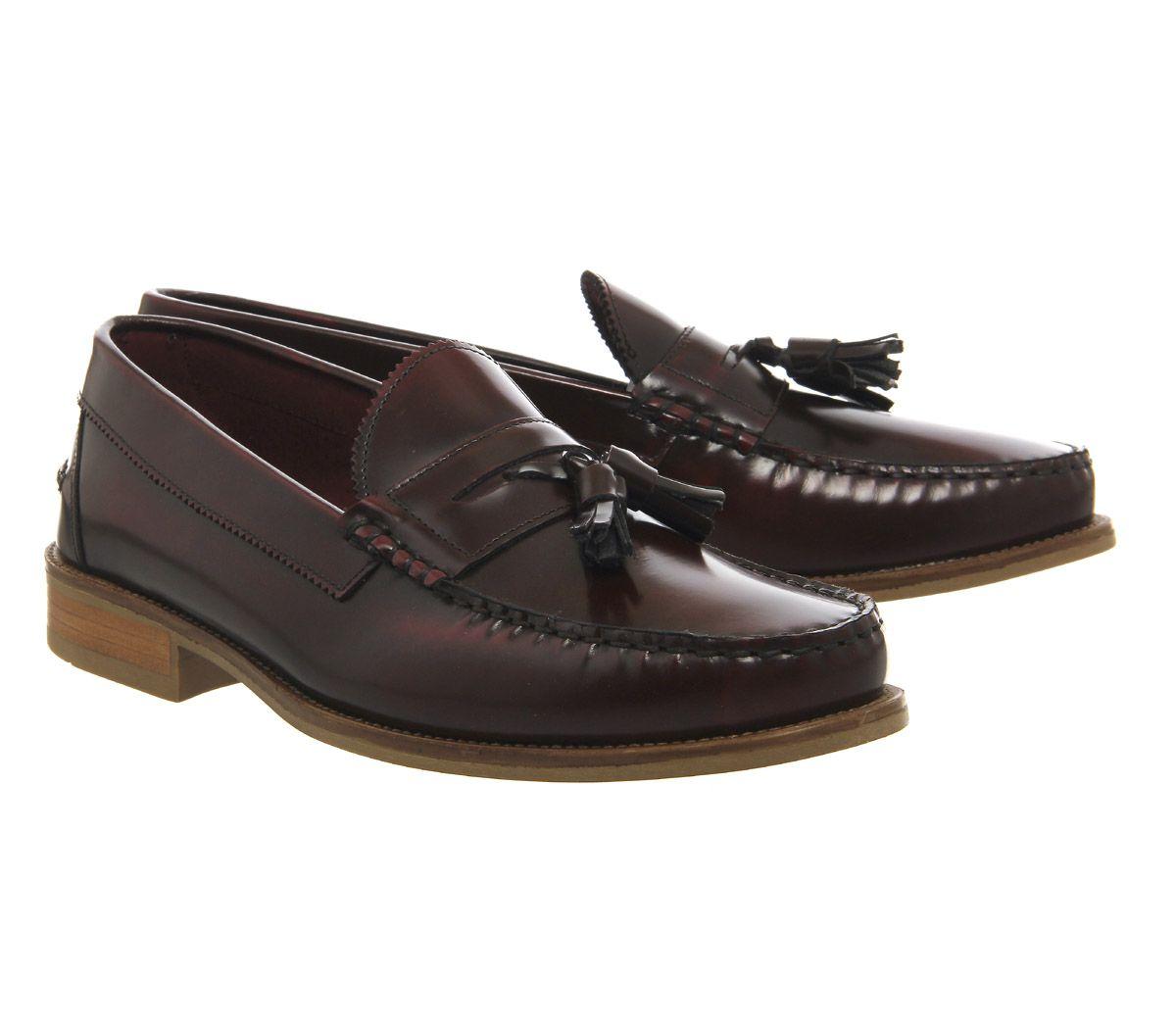 Alto Missus Hombre Borlas Ask Detalles The Bonjourno Burdeos Zapatos De Brillo Mocasines Con tQChdxsr
