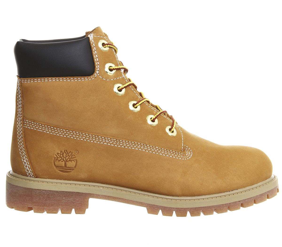buy good lace up in classic styles Details about Kids Timberland Juniors 6 Inch Premium Waterproof Boots Wheat  Nubuck Kids