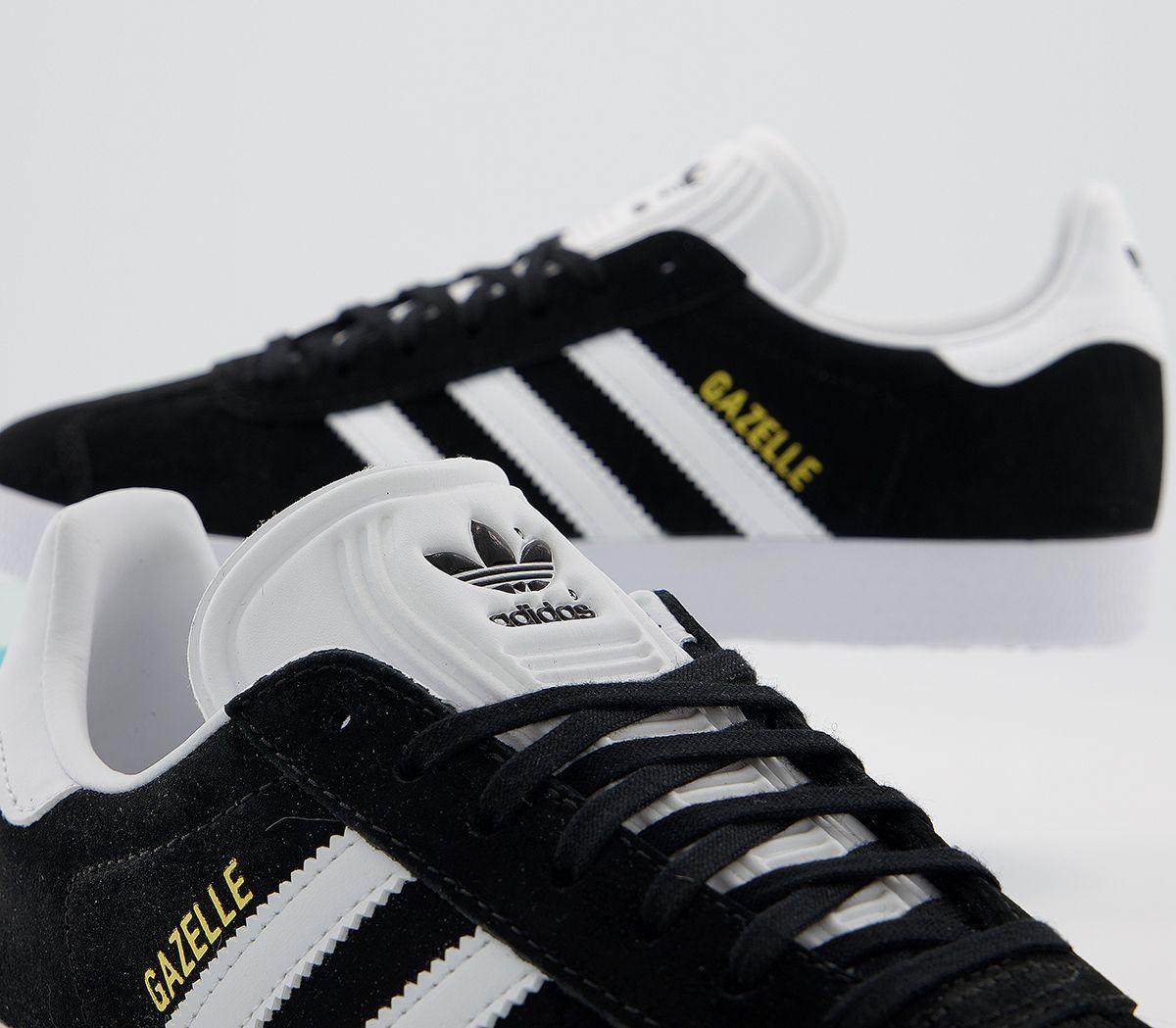 factory authentic new specials wholesale outlet Adidas Gazelle Core Noir Blanc Baskets Chaussures | eBay
