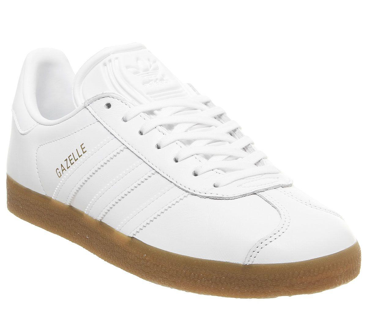 2zapatillas adidas gazelle blancas hombre