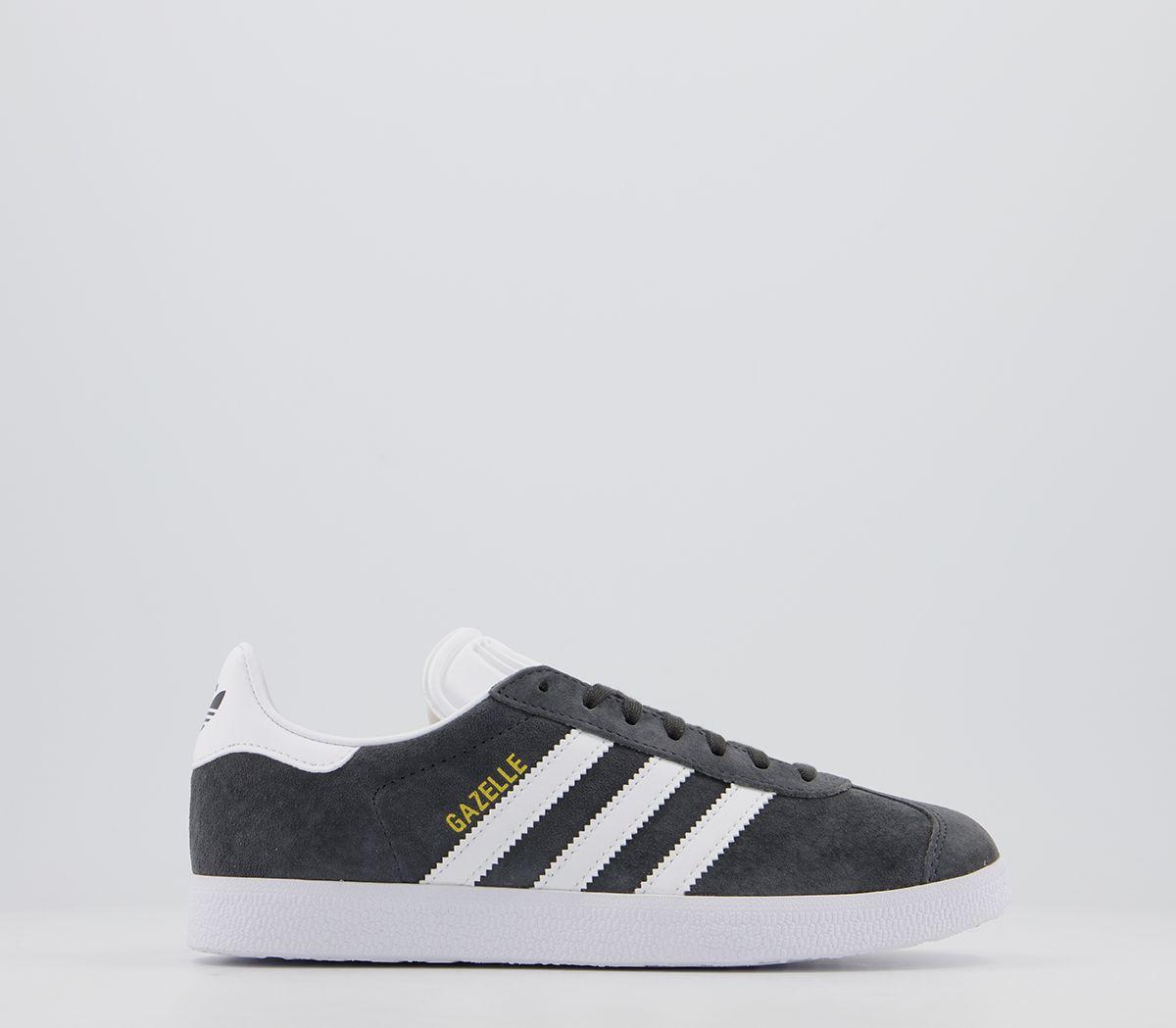 Détails sur Adidas Gazelle Dgh Solide Gris or Blanc Met Baskets