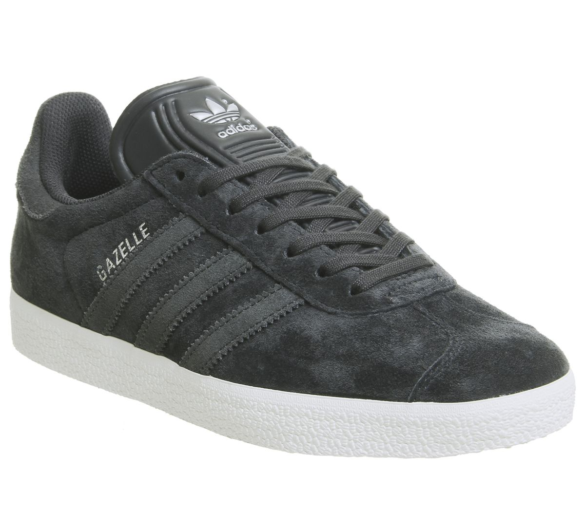 Détails sur Adidas Gazelle Pour Homme Baskets Nuit Gris carbone argent Exclusive Trainers Shoes afficher le titre d'origine
