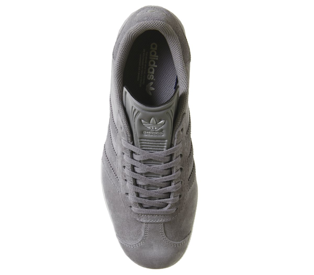 Details zu Mens Adidas Gazelle Trainers Solid Grey Four Silver Exclusive Trainers Shoes