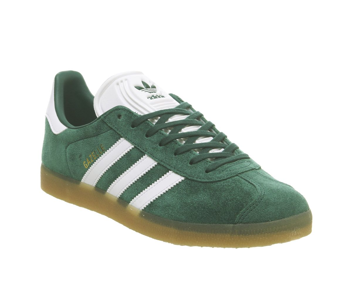Details zu Adidas Gazelle Trainers Collegiate Green White Gum Trainers Shoes