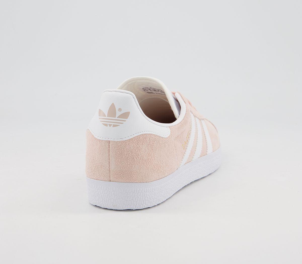 Adidas-Gazelle-Vapour-Pink-White-Trainers-Shoes thumbnail 10