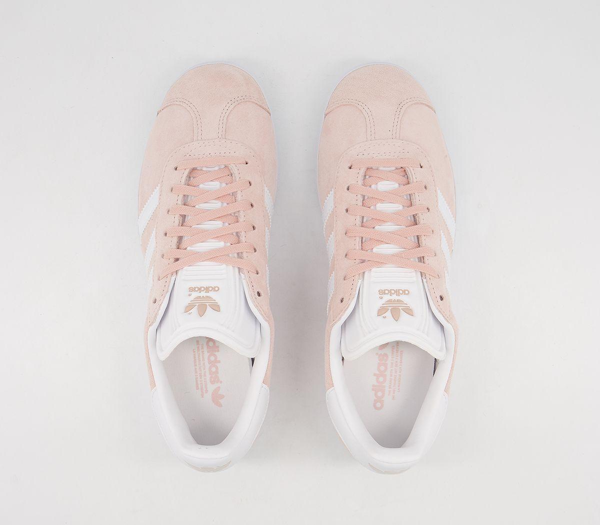 Adidas-Gazelle-Vapour-Pink-White-Trainers-Shoes thumbnail 12