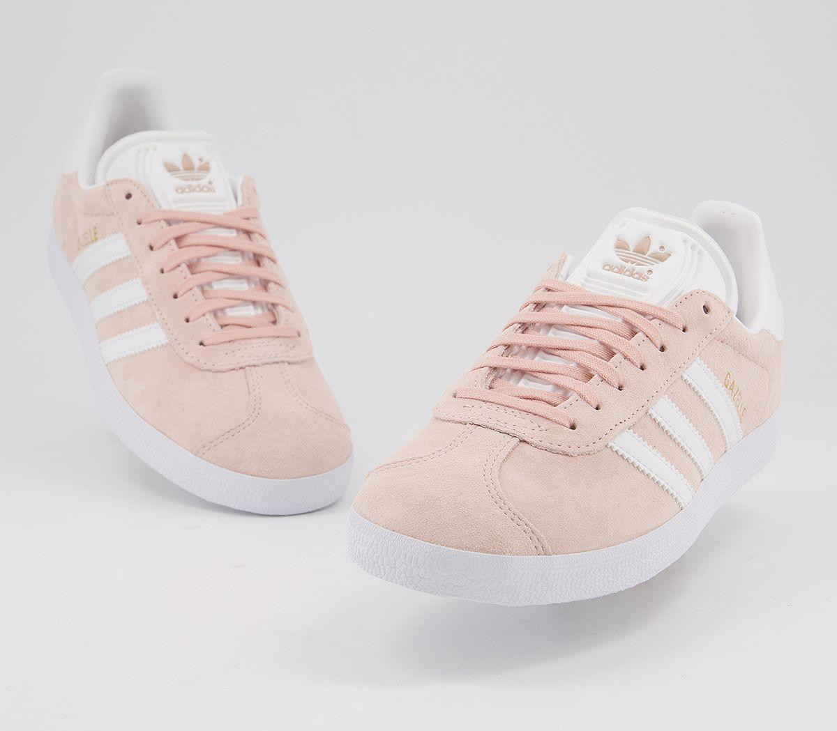 Adidas-Gazelle-Vapour-Pink-White-Trainers-Shoes thumbnail 8