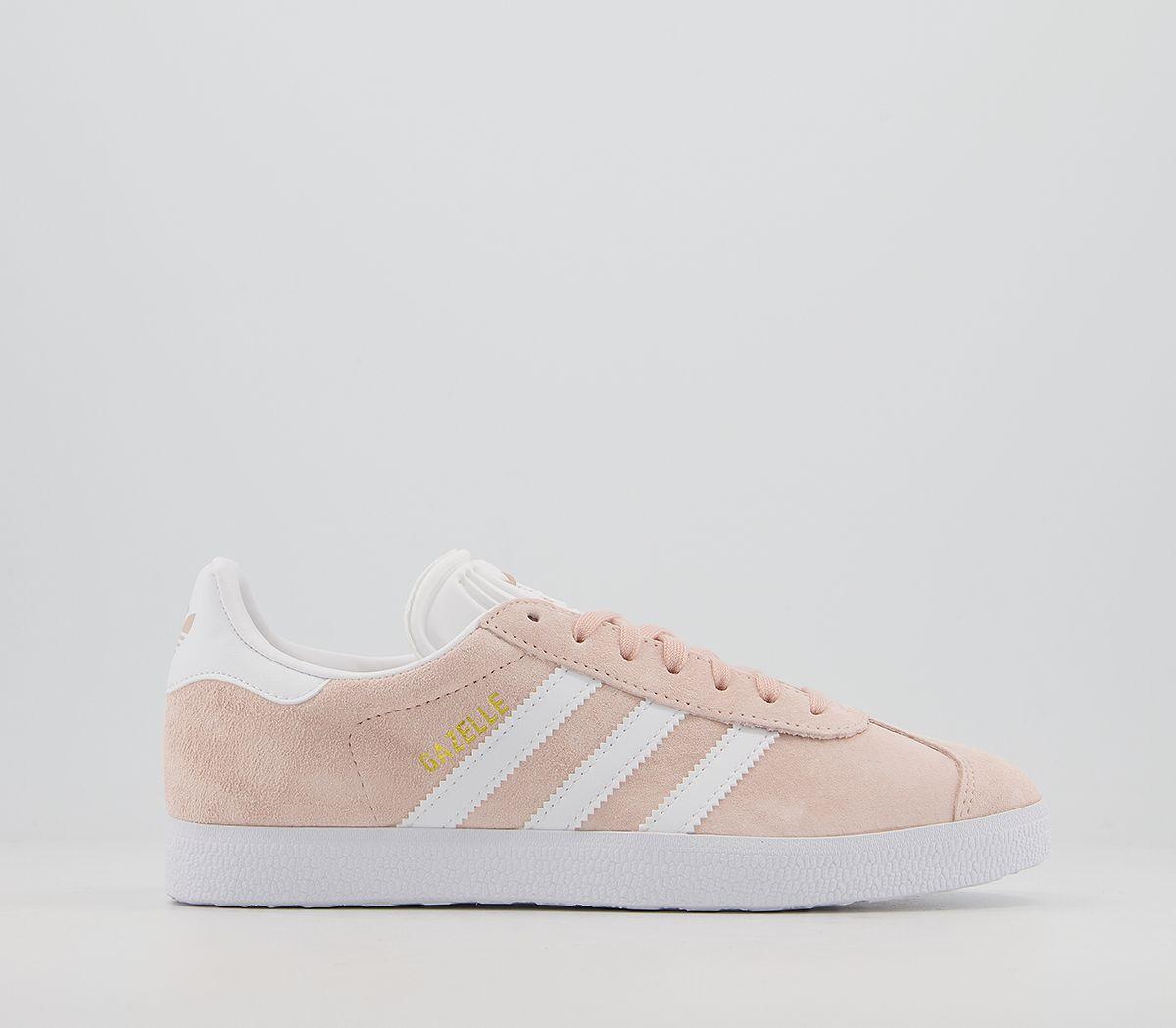Adidas-Gazelle-Vapour-Pink-White-Trainers-Shoes thumbnail 4