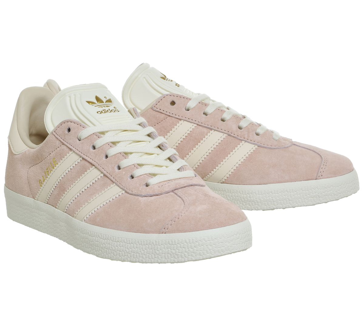 Details zu Womens Adidas Gazelle Trainers Vapour Pink Linen Cream White  Trainers Shoes
