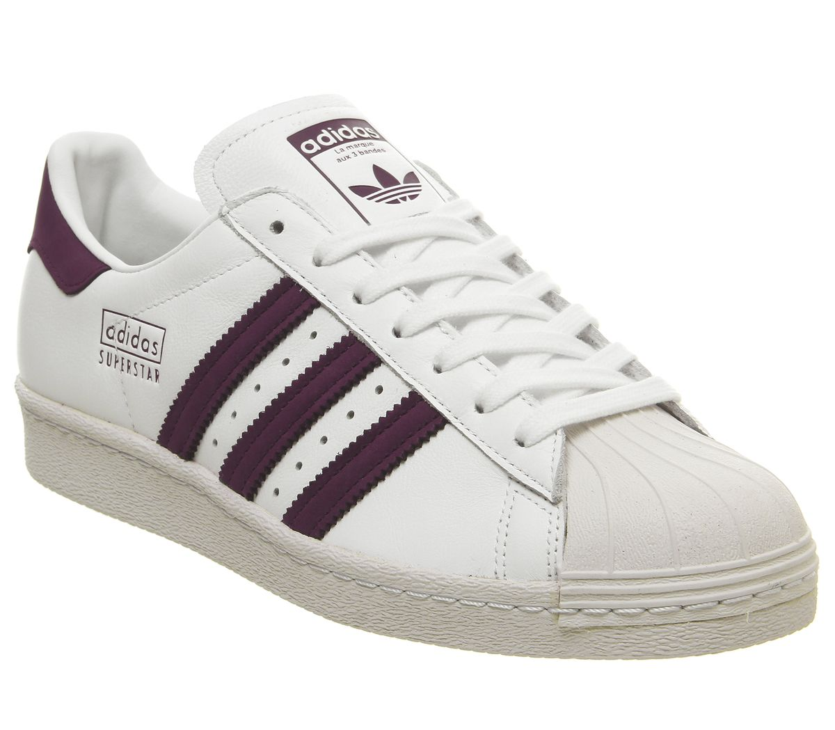 White Maroon Crystal Adidas Superstar Details Shoes 80s About Mens Trainers HWD92IYeE