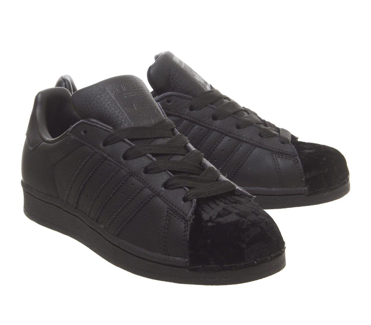 adidas superstar high top all black
