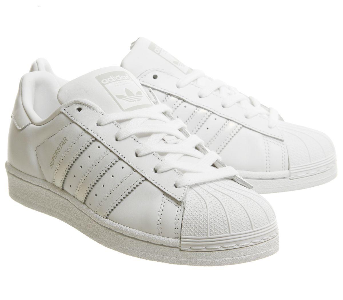 Dettagli su Donna adidas Superstar 1 Bianco Grigio Scarpe da Ginnastica