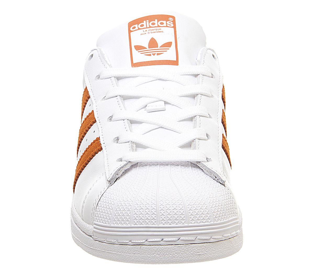 Détails sur Homme Adidas Superstar 1 Baskets Blanc Orange Baskets afficher le titre d'origine
