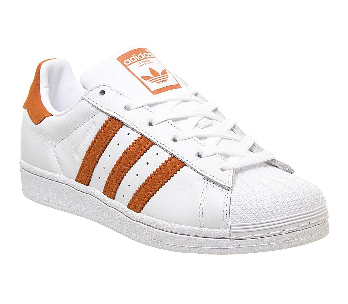 Détails sur Hommes Adidas Superstar 1 Baskets Blanc Orange Baskets