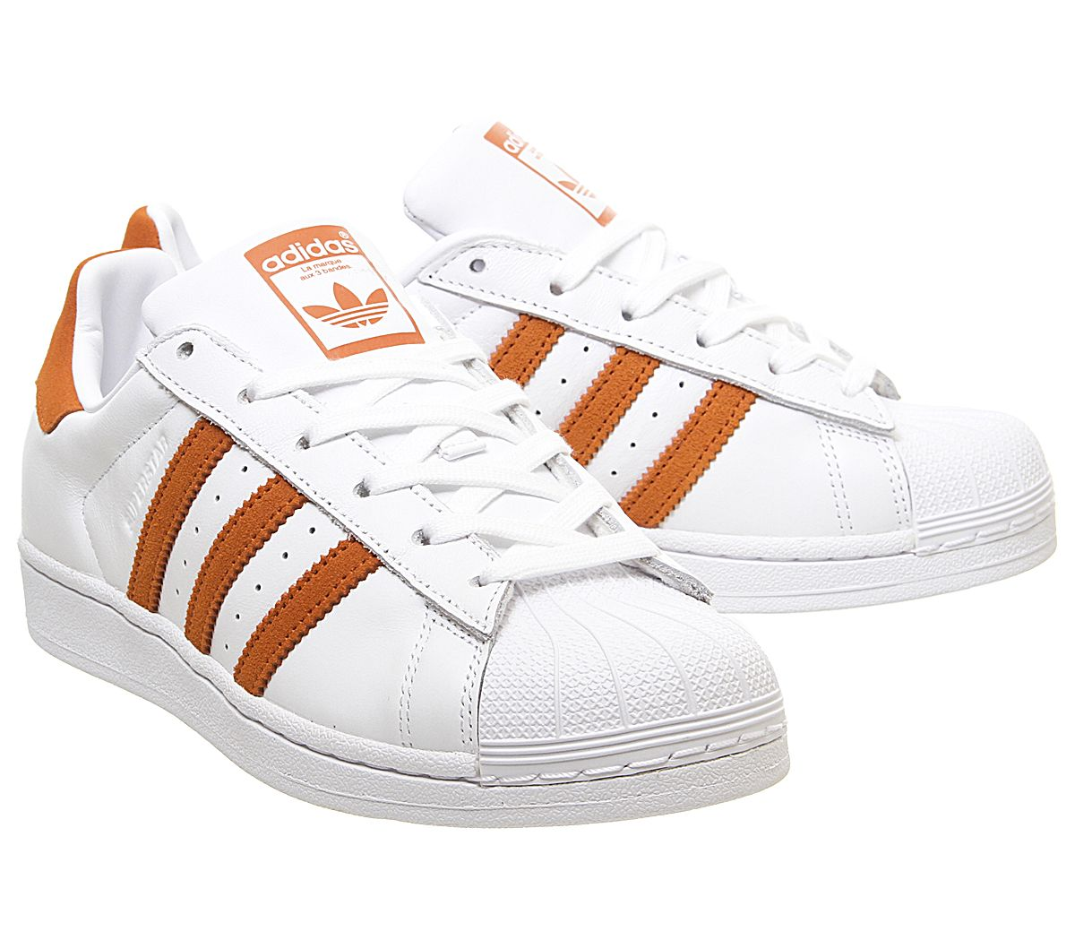 Détails sur Homme Adidas Superstar 1 Baskets Blanc Orange Baskets afficher le titre d'origine