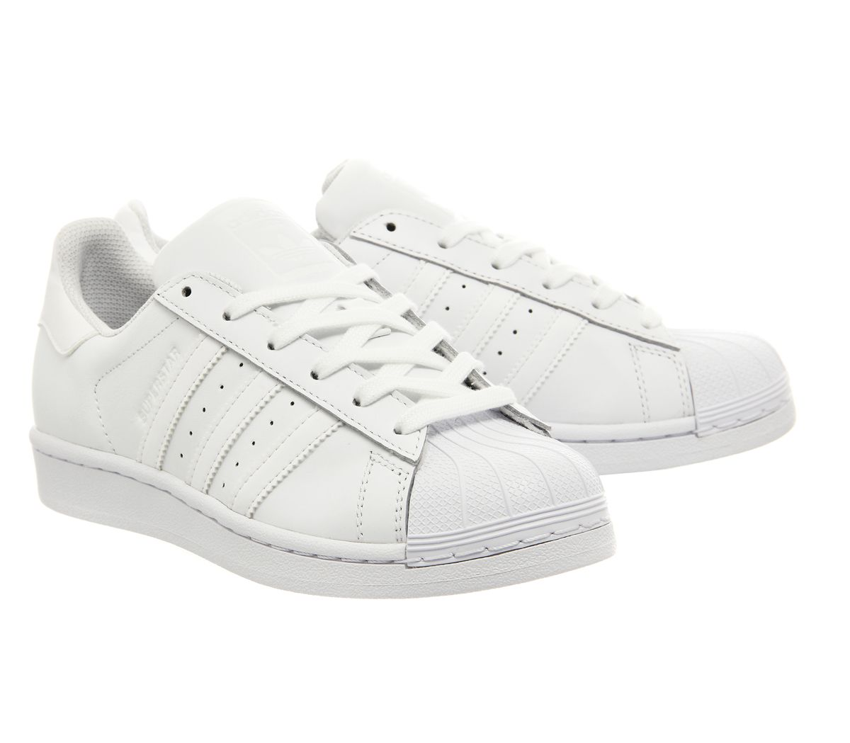 on sale 6172f 55405 Sentinel Mens Adidas Superstar 1 White Mono Foundation Trainers Shoes