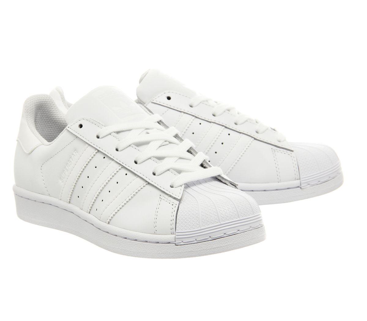 Dettagli su Da Uomo Adidas Superstar 1 Bianco Mono Scarpe da ginnastica Foundation mostra il titolo originale