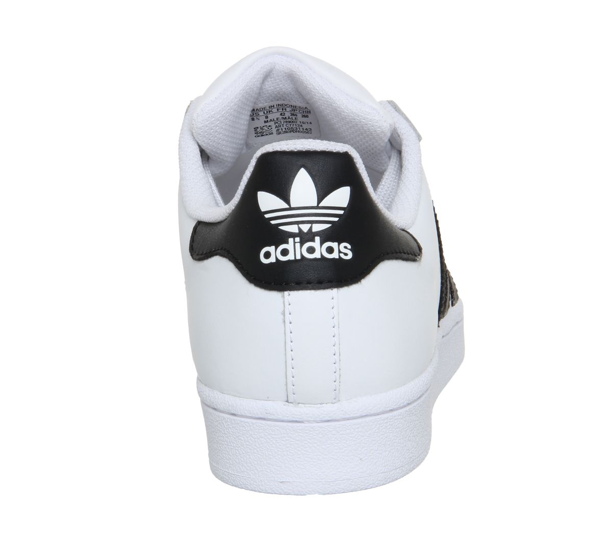Mens-Adidas-Superstar-1-White-Black-Foundation-Trainers-Shoes thumbnail 10