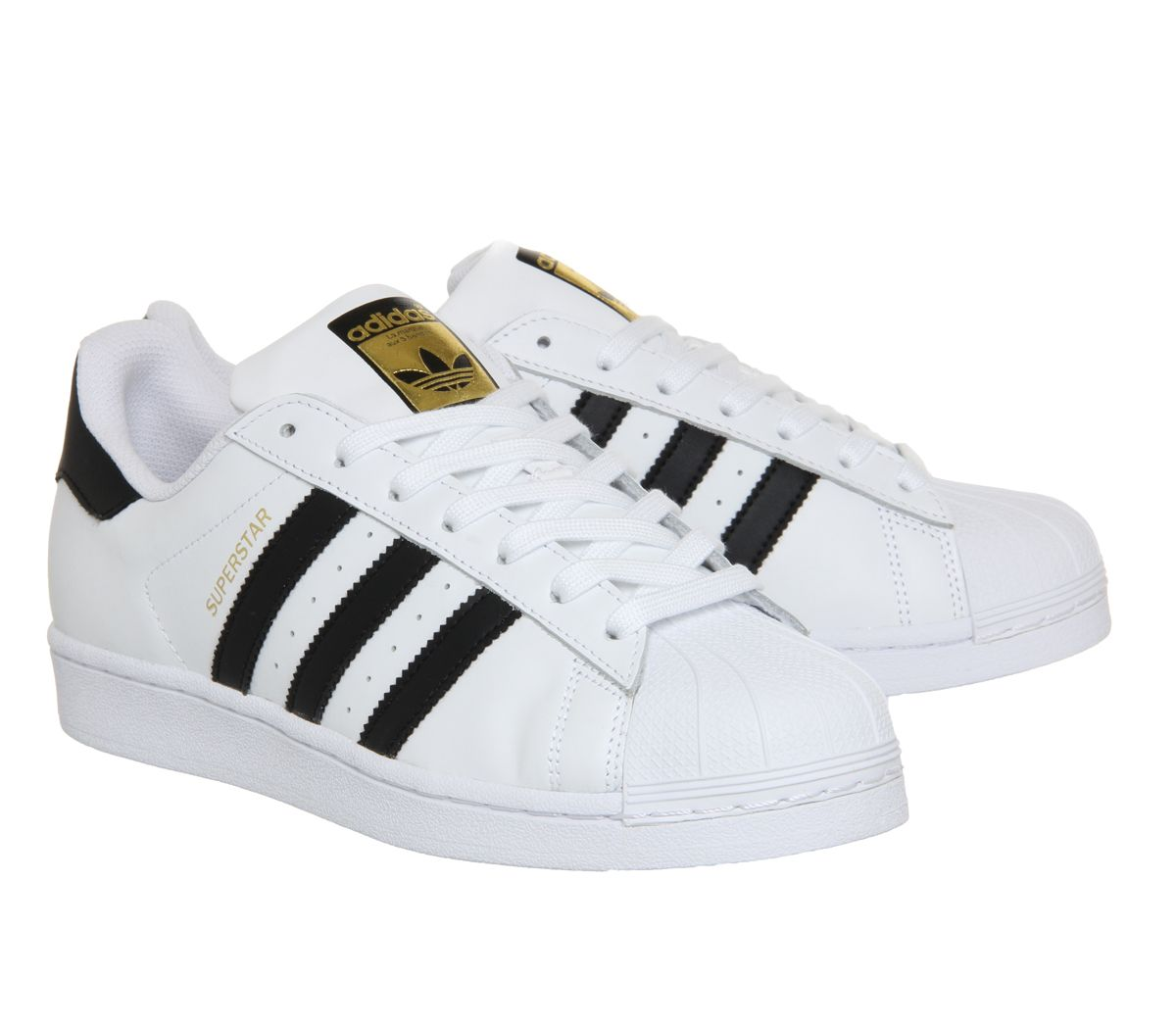 official photos 063fa 27cc2 Sentinel Mens Adidas Superstar 1 White Black Foundation Trainers Shoes
