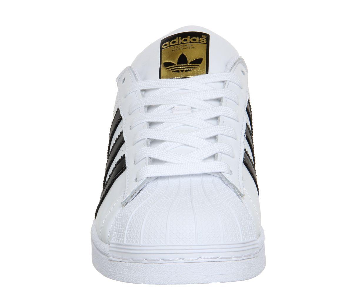 Uomo Adidas Superstar 1 Bianco Nero Foundation Scarpe da