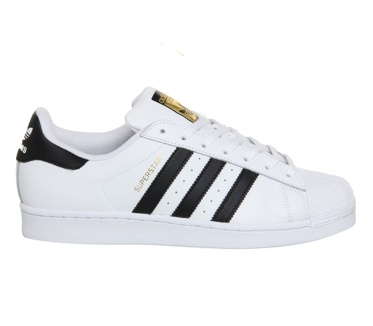 Mens-Adidas-Superstar-1-White-Black-Foundation-Trainers-Shoes thumbnail 4