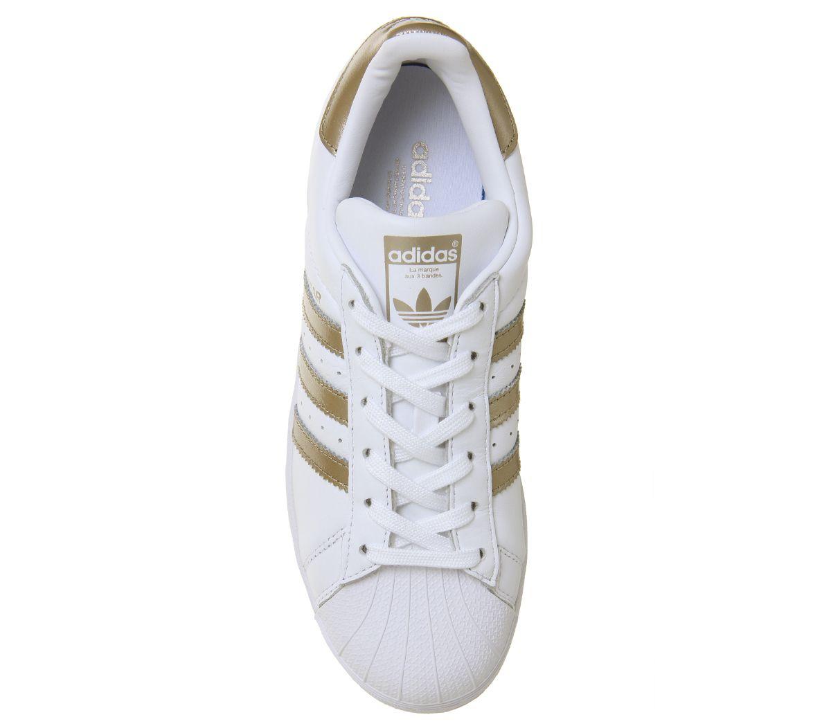 Dettagli su Donna Adidas Superstar 1 Scarpe da Ginnastica Bianche Metallizzato