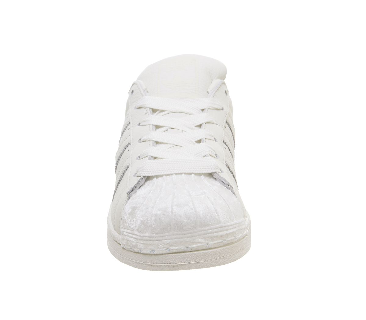 3f6501e2b4b Womens Adidas Superstar 1 Trainers Off White Off White Velvet ...