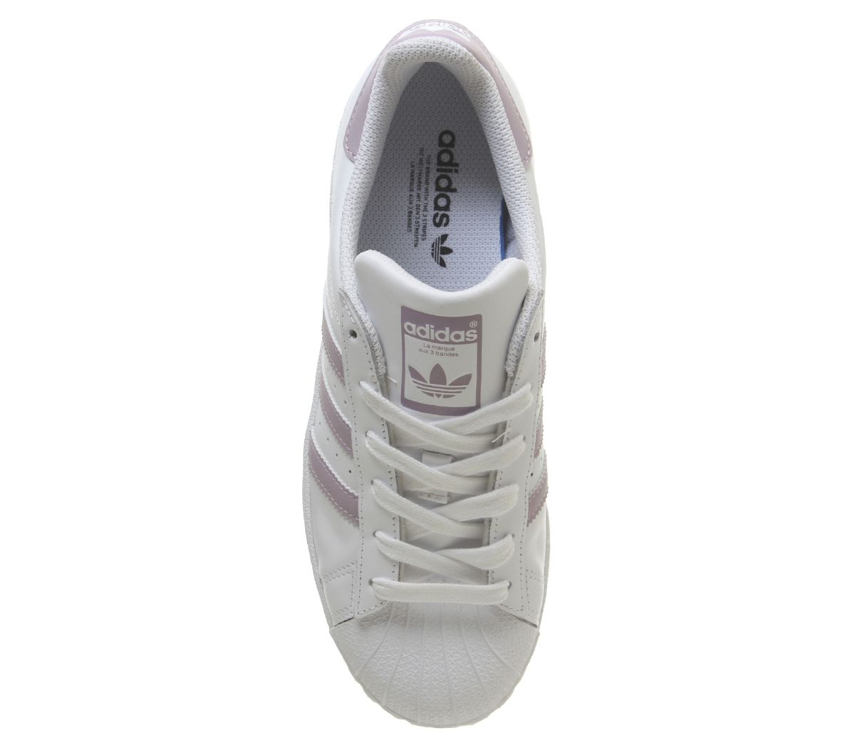 huge selection of a4fd8 cee39 Femmes-Adidas-Superstar-1-Chaussures-Blanches-Souple-Vision-