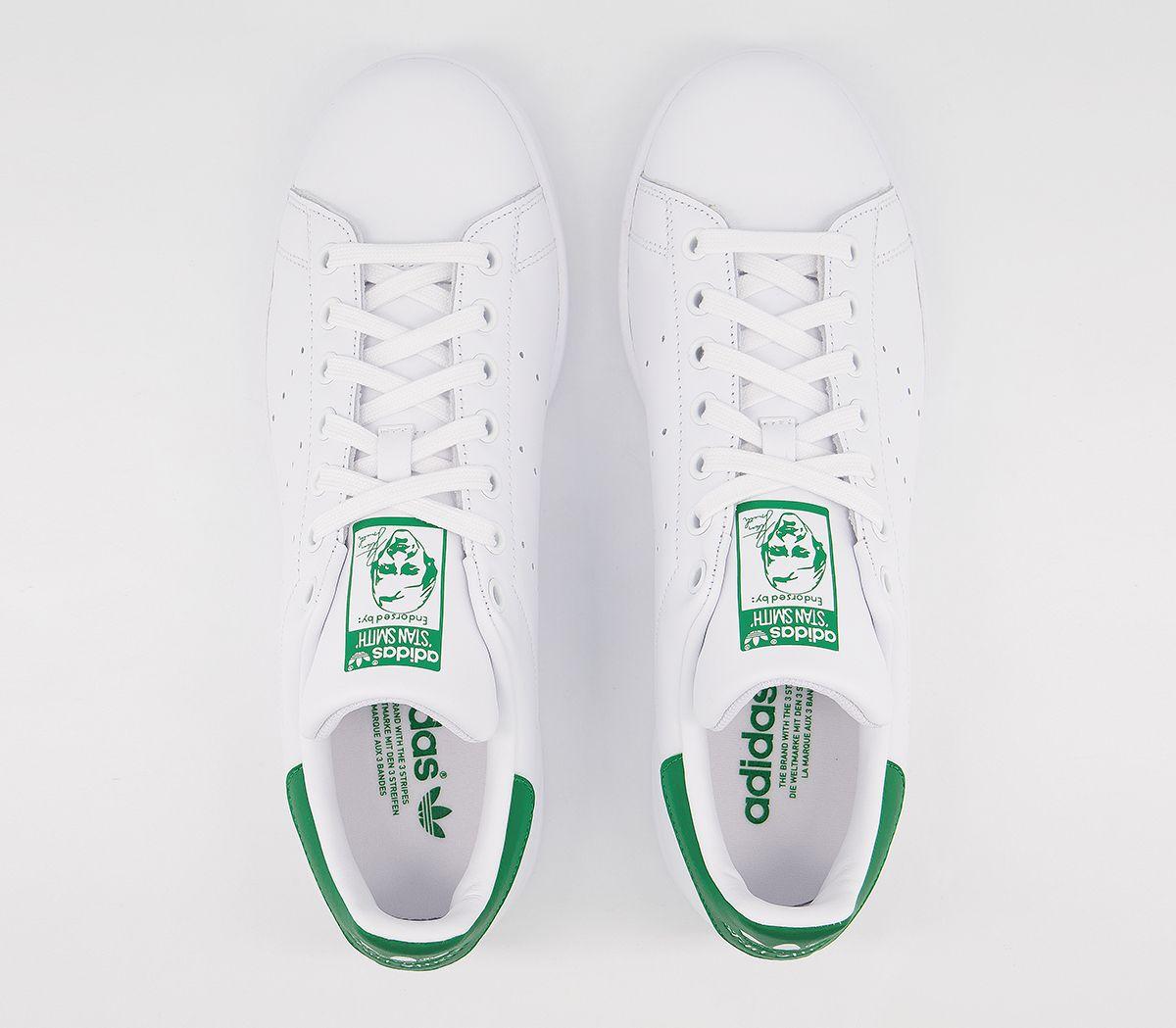 premium selection 03d69 ac907 SENTINELLE Mens Adidas Stan Smith formateurs principaux formateurs vert  blanc chaussures