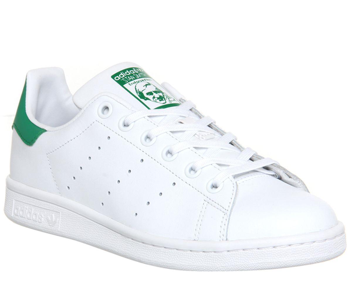 Dettagli su Uomo adidas Stan Smith Scarpe Sportive Core Bianco Verde Scarpe da Ginnastica