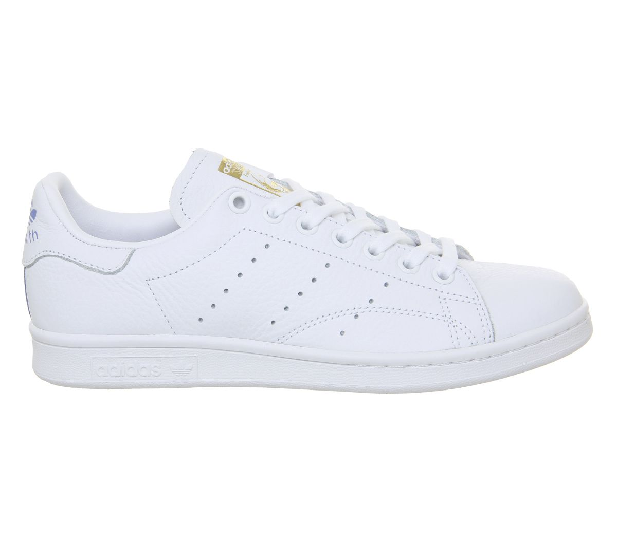 newest e3695 b84b3 Sentinel Womens Adidas Stan Smith Trainers White Real Lilac Raw Gold F  Trainers Shoes