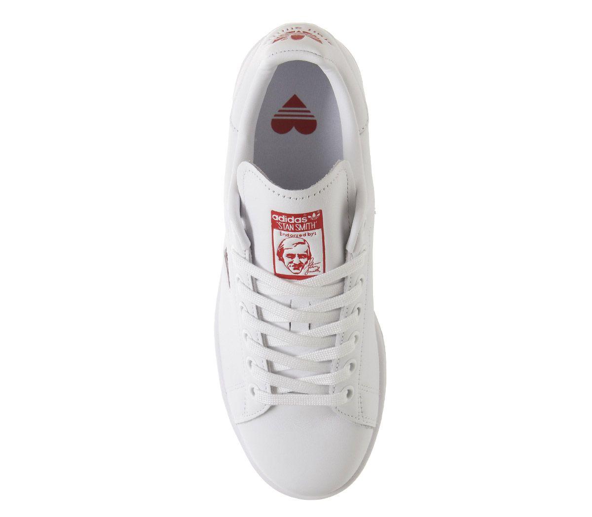 precios de remate Tener cuidado de invicto x Mujer adidas Stan Smith Zapatillas Blancas Corazón Rojo Zapatillas  Deportivas | eBay