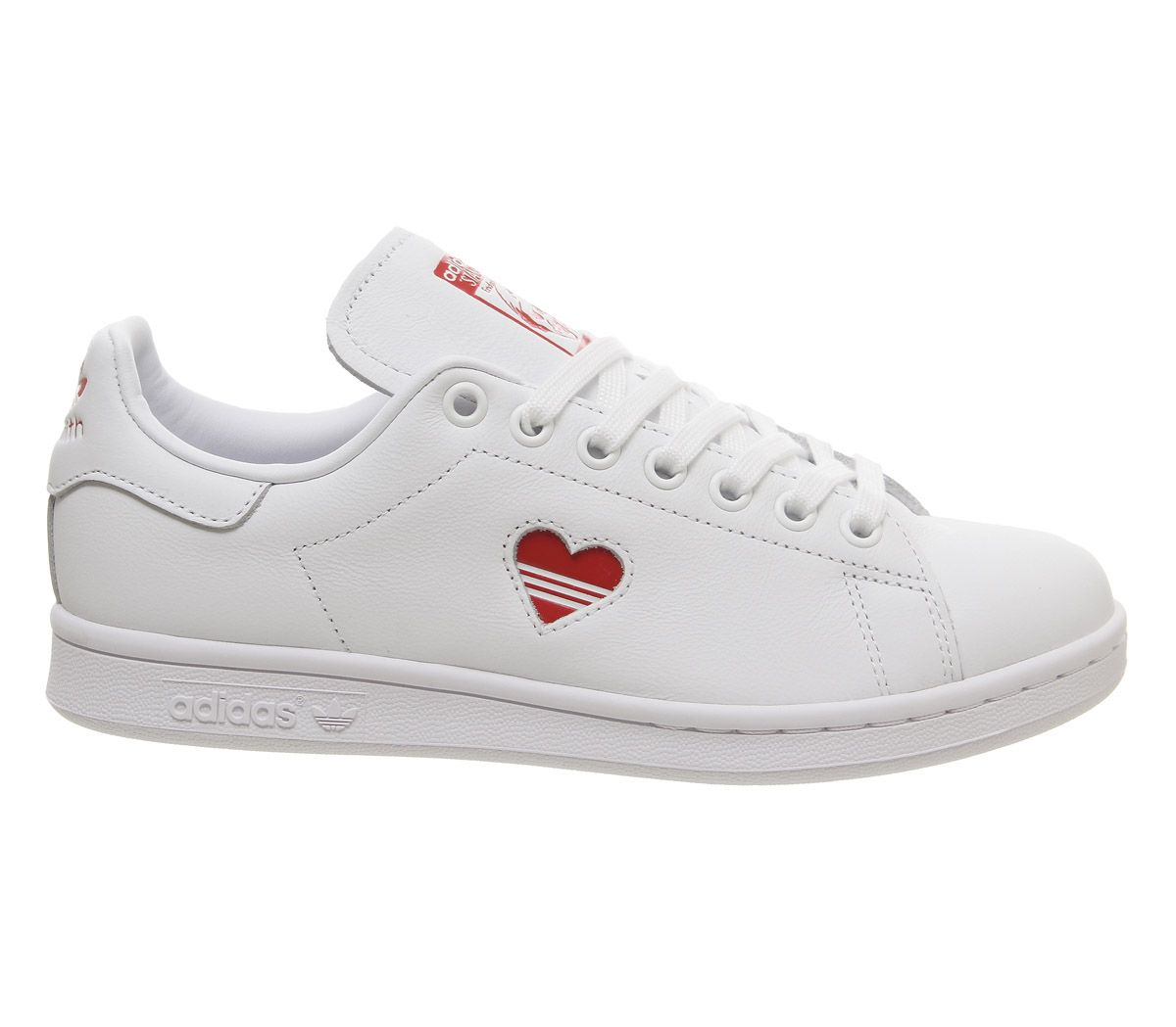 e971336b2 Mujer Adidas Stan Smith Zapatillas Blancas Corazón Rojo Zapatillas ...