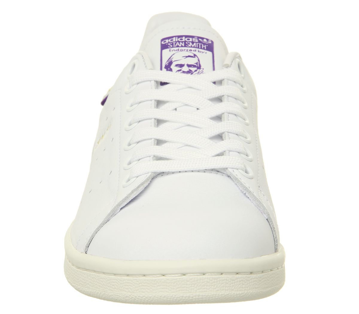 new product 7dbea c1fff Sentinel Womens Adidas Stan Smith Trainers Off White Purple Gold Metallic  Elizbeth Tfl Tr