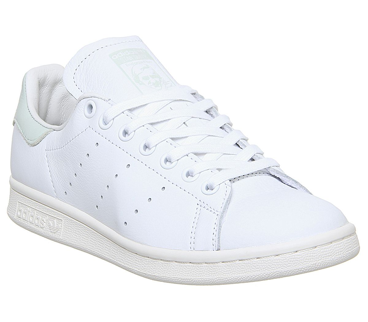 détaillant en ligne e5940 0b387 Details about Women adidas stan smith white trainers white green lin  sneakers- show original title