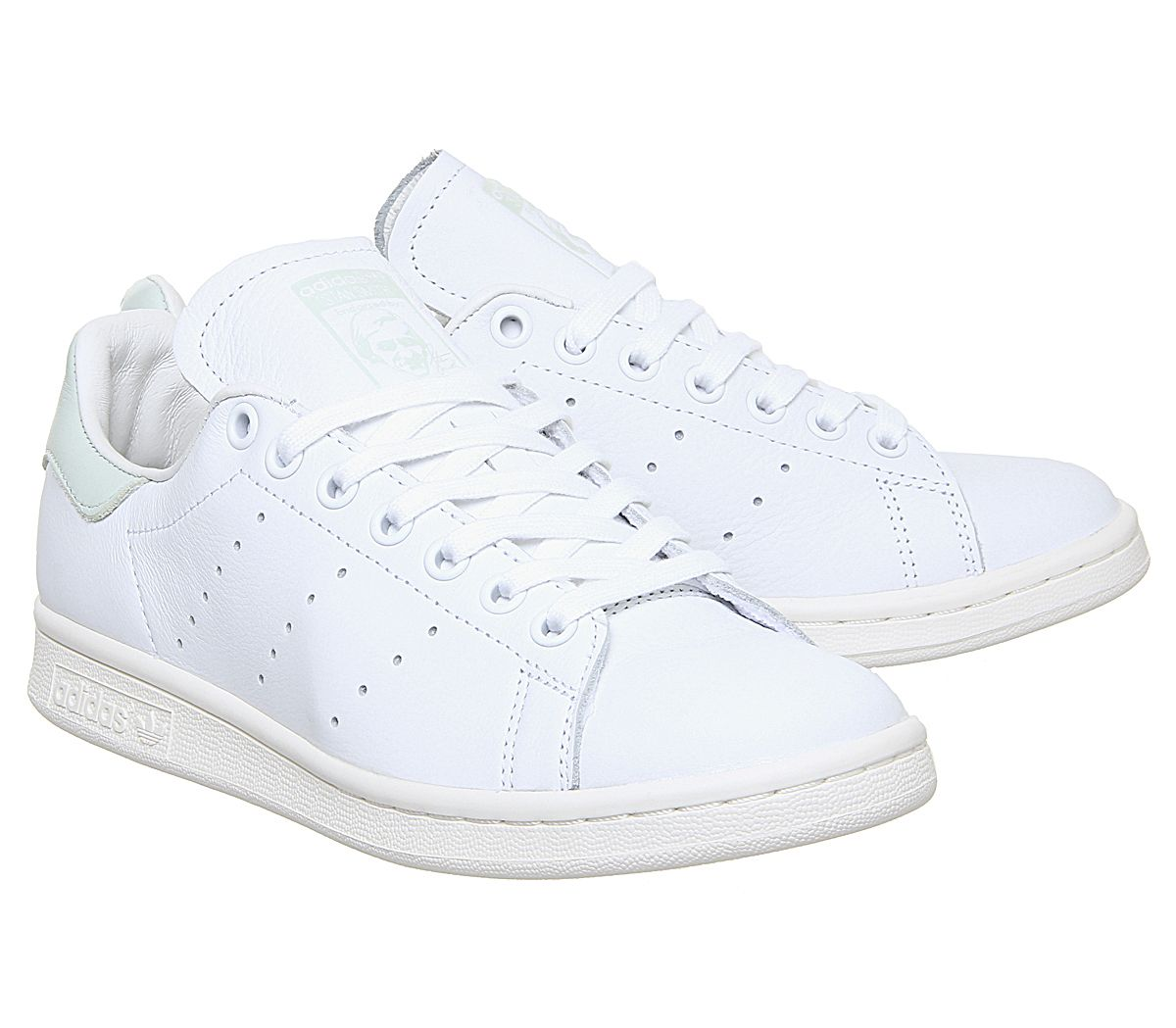 détaillant en ligne dbef3 73220 Details about Women adidas stan smith white trainers white green lin  sneakers- show original title