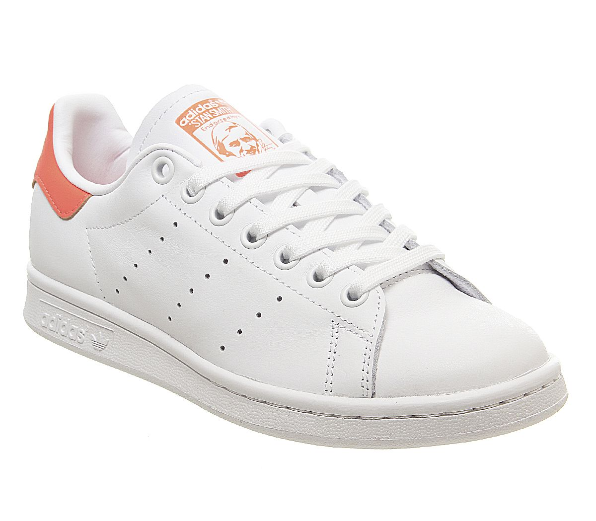 Détails sur Femmes adidas Stan Smith Baskets Blanc Solaire Orange Blanc  Baskets