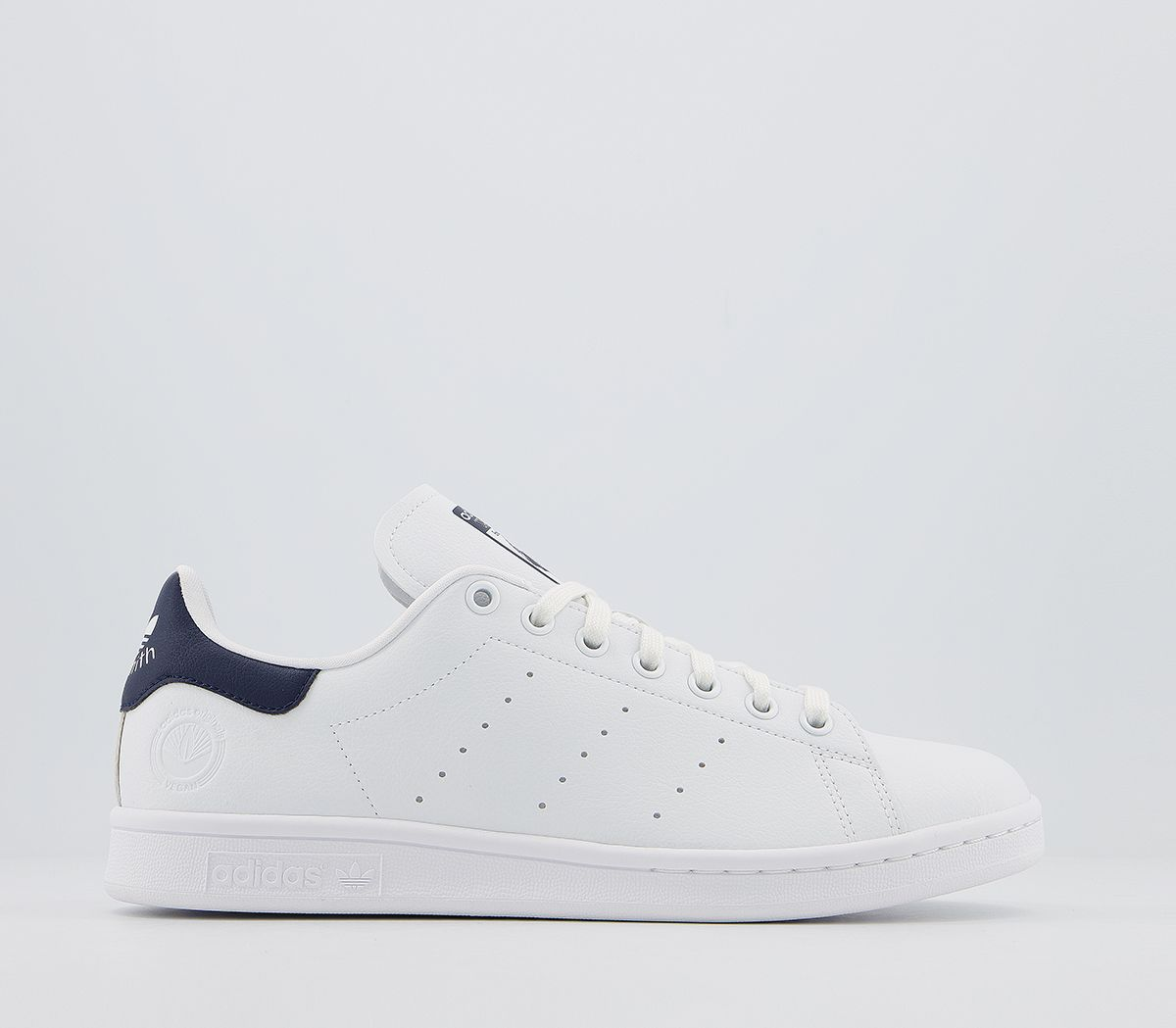 Danubio posponer orificio de soplado  Hombre Adidas Stan Smith Zapatillas Blancas Colegial Azul Marino Vegano  Zapatos   eBay