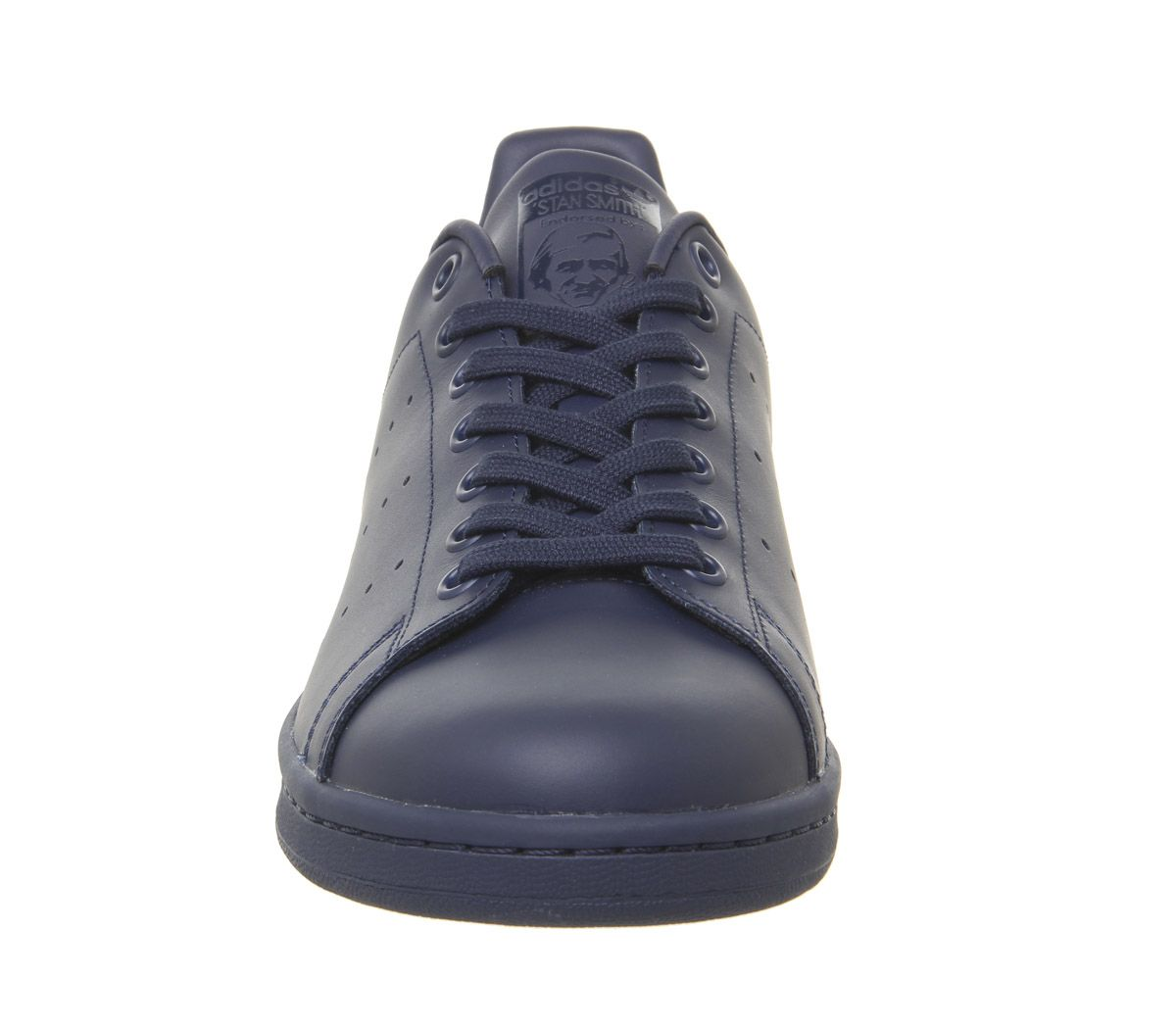 new style 8b8dd e7284 Details about Adidas Stan Smith Trainers Navy Leather Mono Trainers Shoes