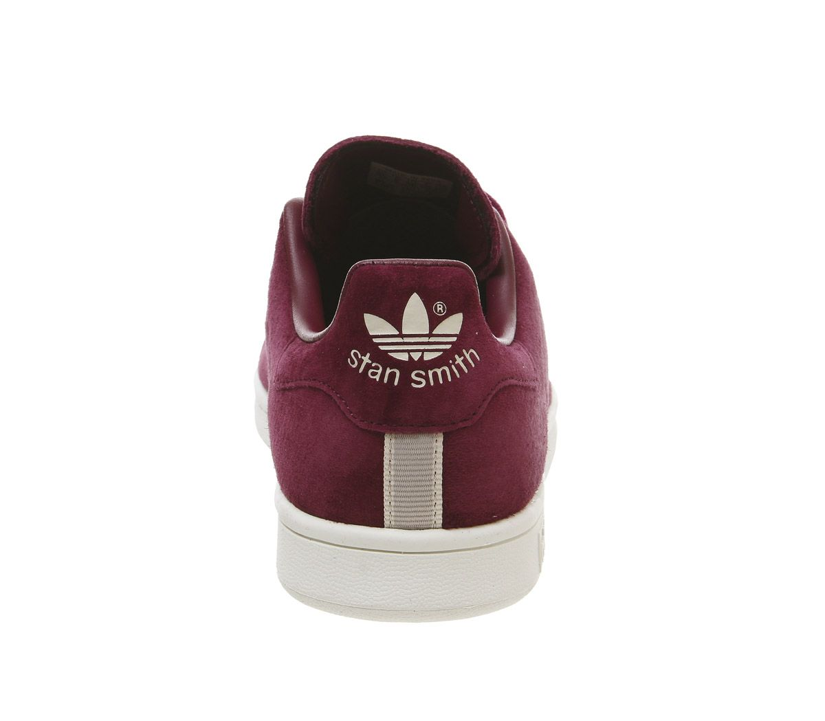 Details about Mens Adidas Stan Smith Trainers Maroon Crystal White Clear Brown Trainers Shoes