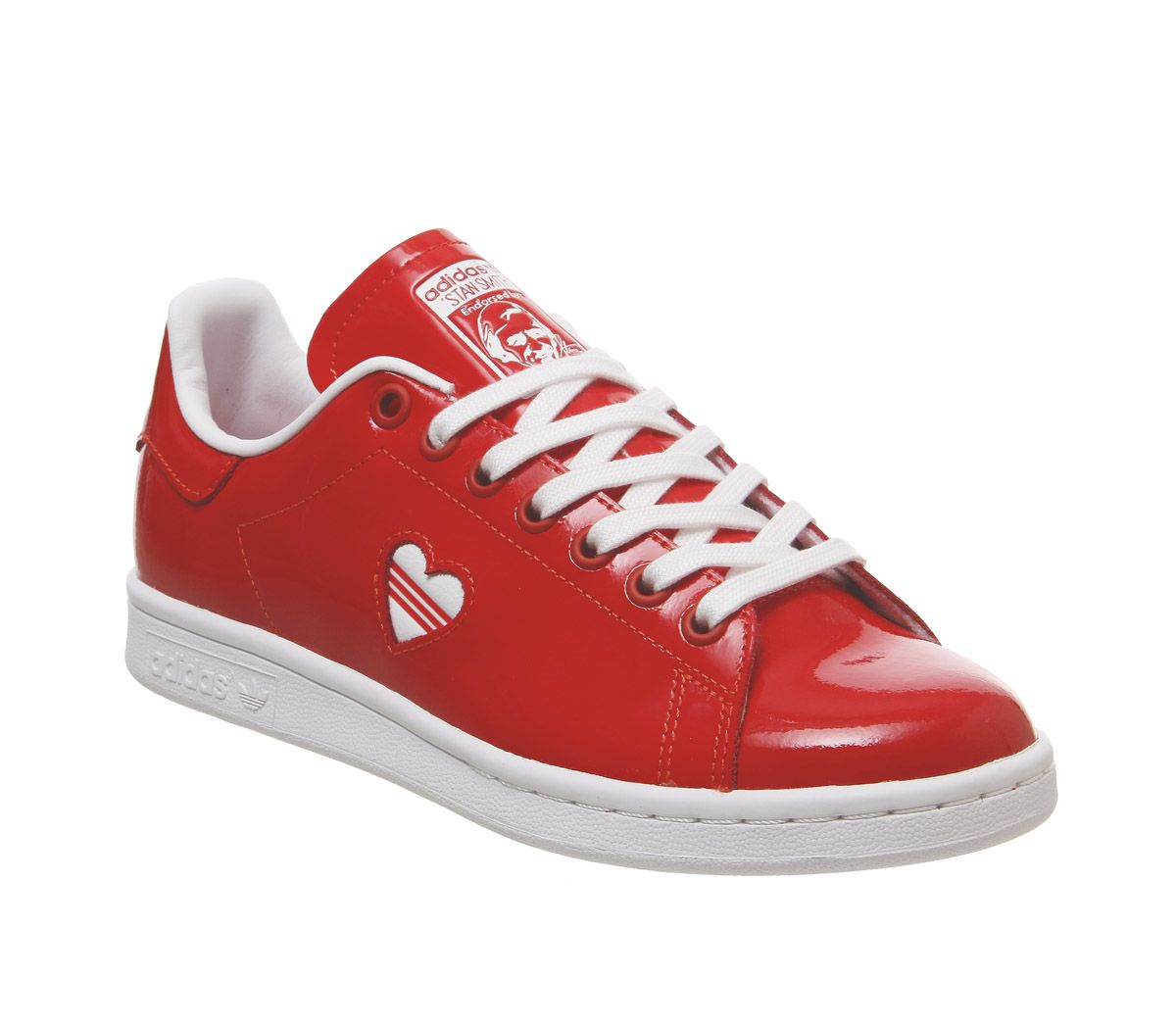 official photos b2626 a9c8d Sentinel Womens Adidas Stan Smith Trainers Red Red Heart Trainers Shoes