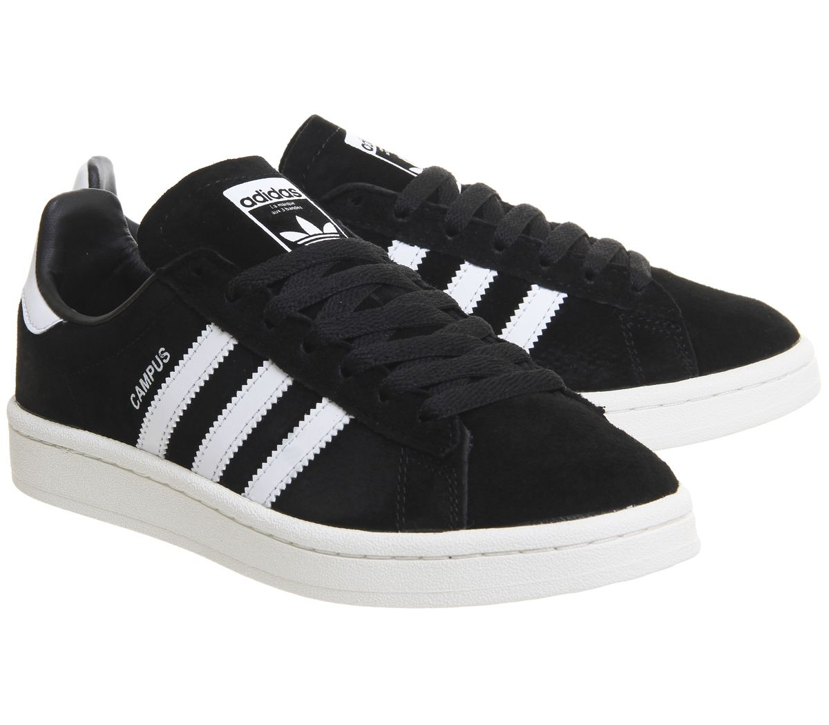 buy online d75fe 95e19 Sentinel Mens Adidas Campus Black White Trainers Shoes