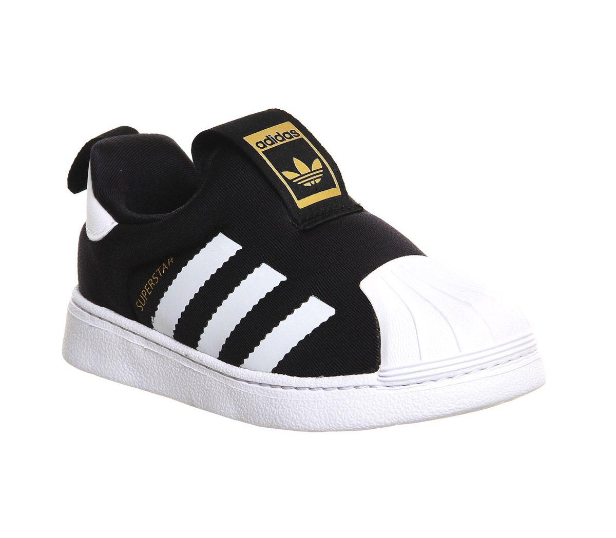 Details zu Kids Adidas Superstar 360 Inf 3 9 Core Black Kids