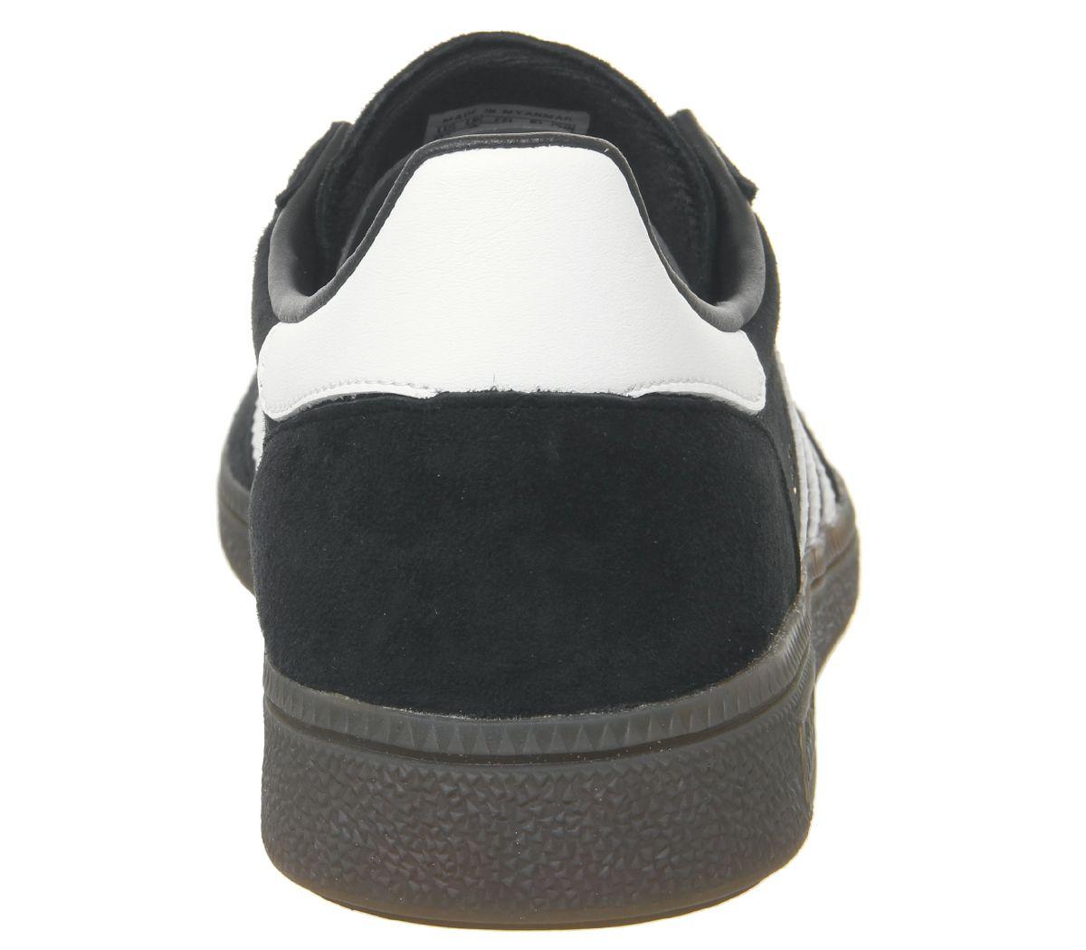 Detalles de Adidas Handball Spezial Zapatillas Core Blanco y Negro Goma Deportivas