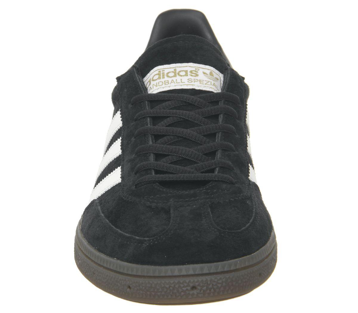 Adidas-Handball-Spezial-Trainers-Core-Black-White-Gum-Trainers-Shoes thumbnail 6