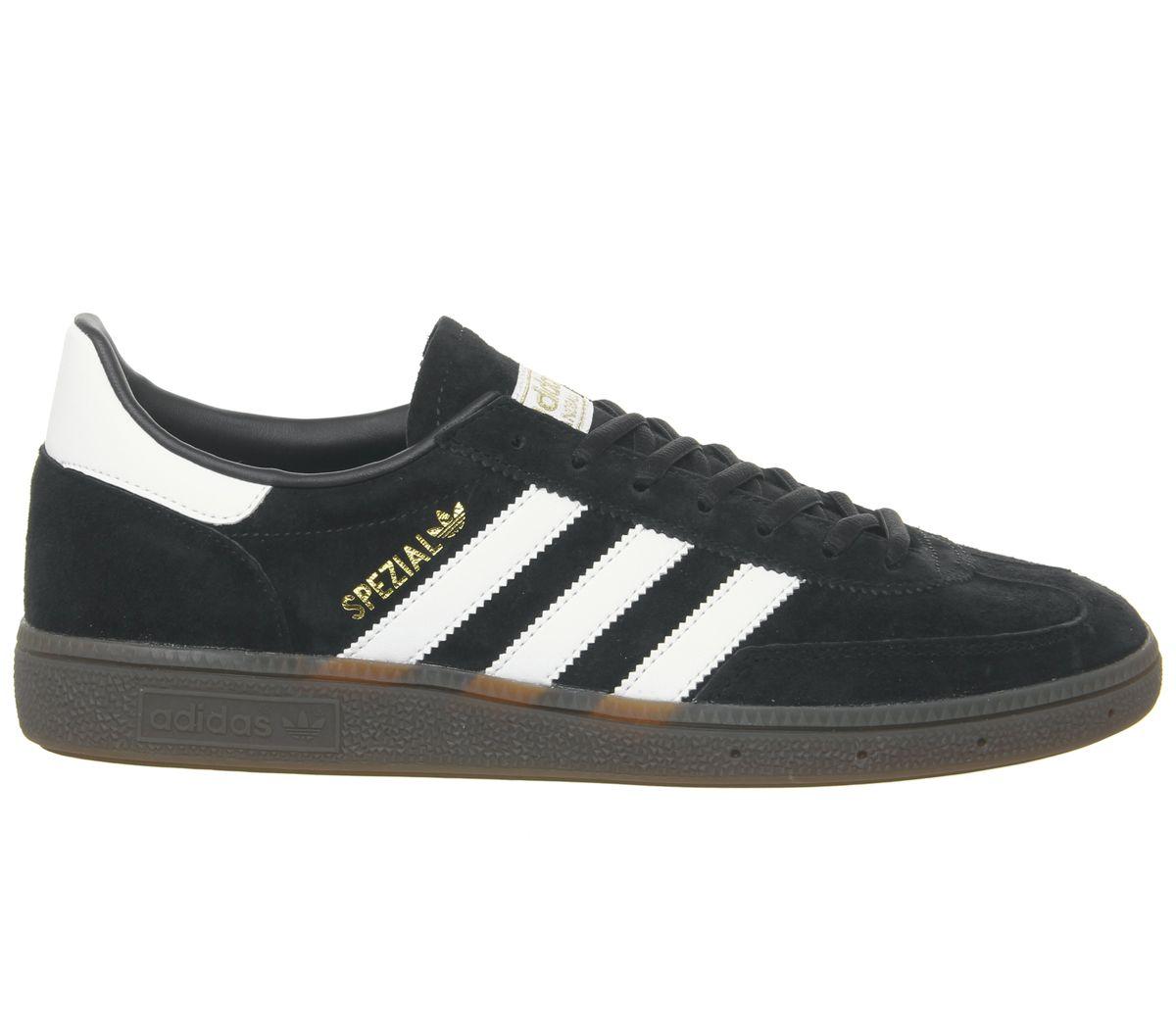 Adidas-Handball-Spezial-Trainers-Core-Black-White-Gum-Trainers-Shoes thumbnail 4