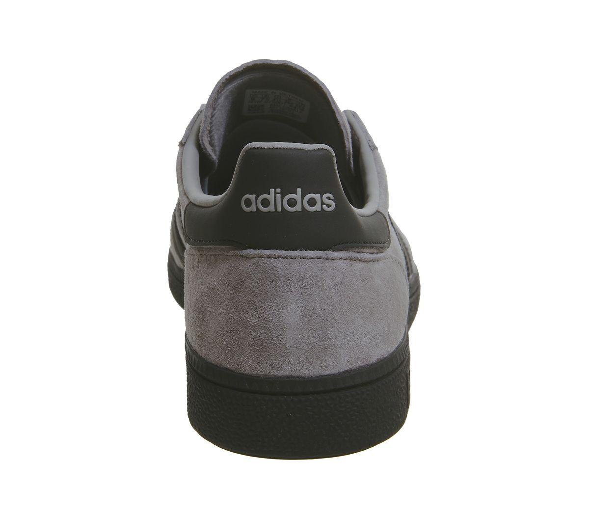 Details zu Adidas Handball Spezial Turnschuhe Schlicht Grau Kern Schwarz Silber Exklusiv