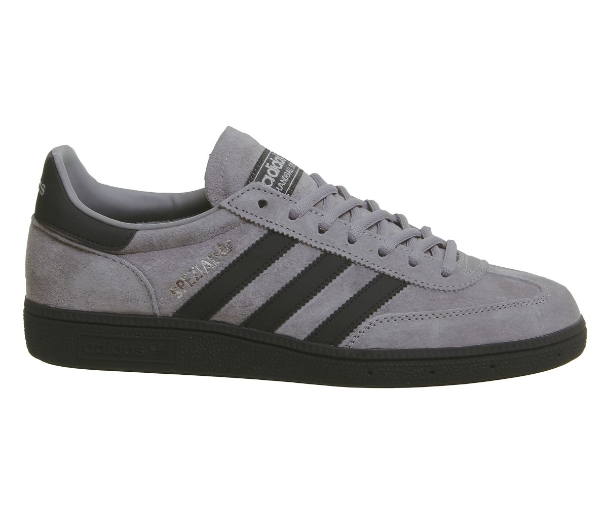 Adidas-Handball-Spezial-Trainers-Solid-Grey-Core-Black-Silver-Exclusive-Trainers thumbnail 10